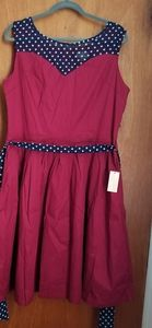 Lindy Bop Plus Size 1950s Retro Swing Dress